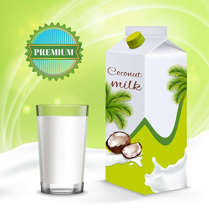 coconut milk in a tetra pack
