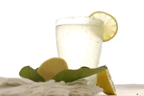 Refreshing drink with coconut water